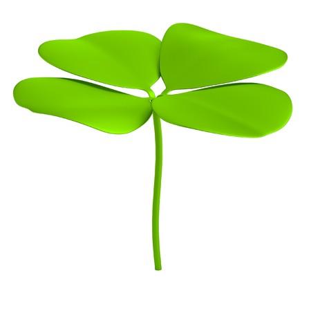 quarterfoil: realistic 3d render of clover