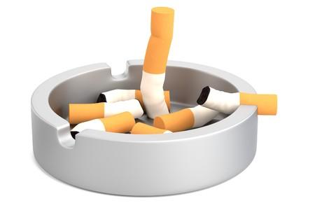 ashtray: realistic 3d render of ashtray