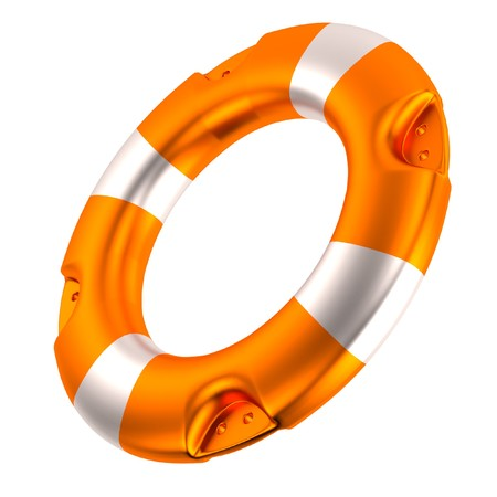 stopper: realistic 3d render of buoy