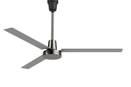 fan ceiling: realistic 3d render of ceiling fan