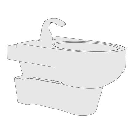 cartoon image of bidet (bathroom element)