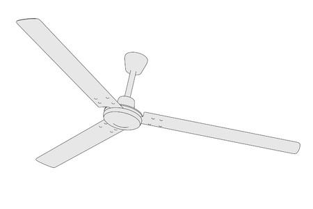 ceiling fan: cartoon image of ceiling fan Stock Photo