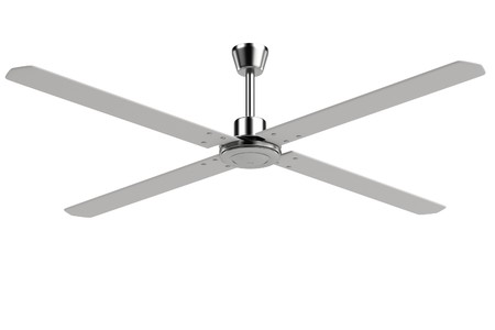 realistic 3d render of ceiling fan