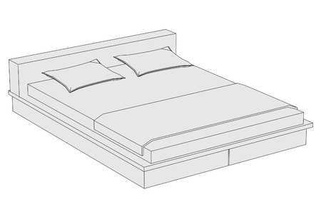 couple in bed: cartoon image of couple bed