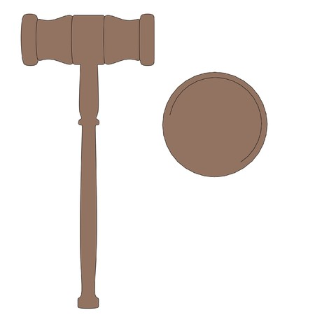 cartoon image of wooden gavel photo