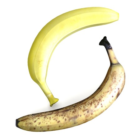 realistic 3d render of banana photo