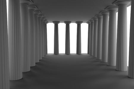civilisation: realistic 3d render of doric temple