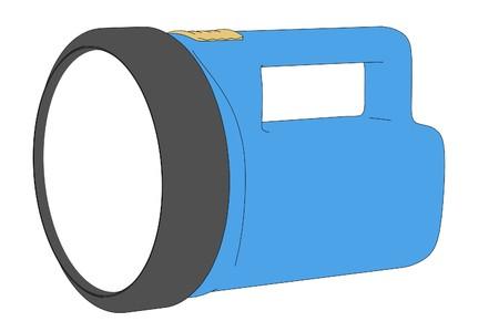flash light: cartoon illustration of flash light Stock Photo