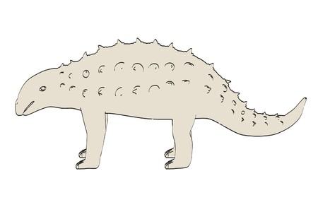 dinosaurus: cartoon image of panoplosaurus dino Stock Photo