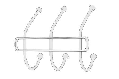 clothes rack: cartoon image of clothes rack Stock Photo