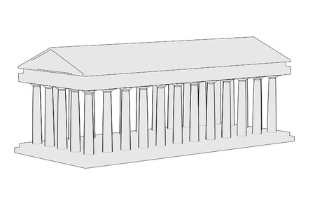 doric: cartoon image of doric temple