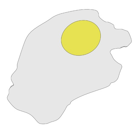 cartoon image of fried eggs photo