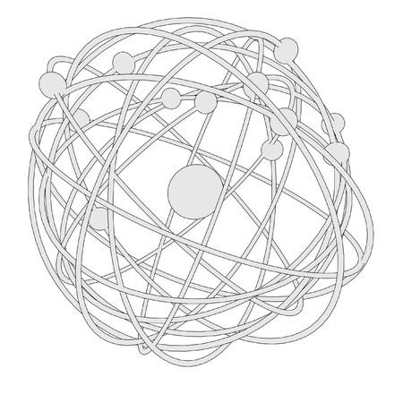 cartoon image of atom with nucleus