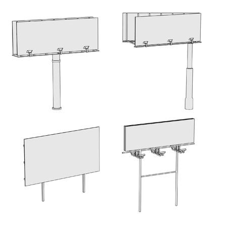 cartoon image of billboards set