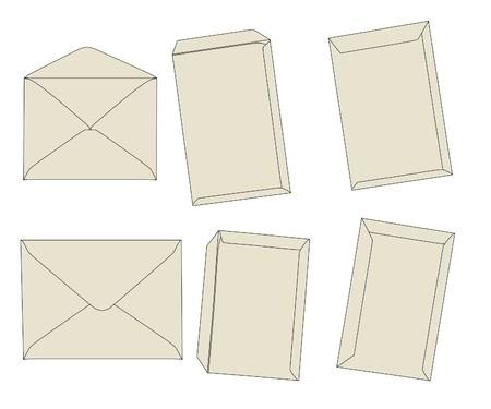 sobres para carta: ilustraci�n de dibujos animados de los sobres de carta