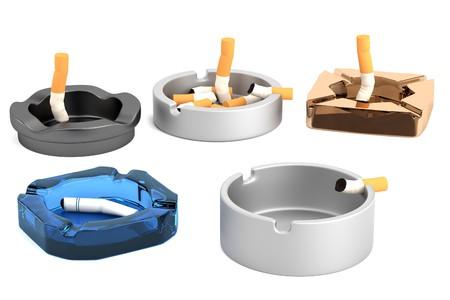 ashtray: realistic 3d render of ashtrays
