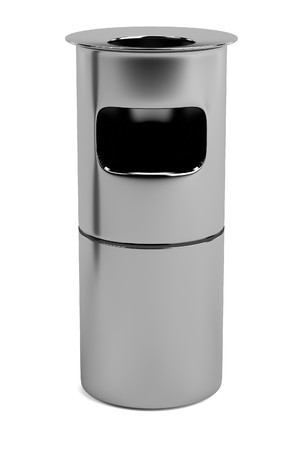 trash can: realistic 3d render of bin