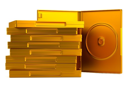 dvd case: realistic 3d render of DVD case