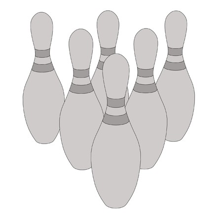cartoon image of bowling set photo