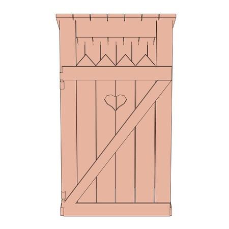 latrine: cartoon image of latrine building Stock Photo