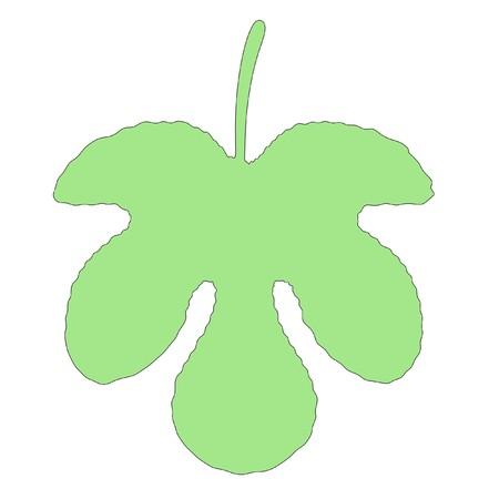 fig leaf: cartoon image of fig leaf