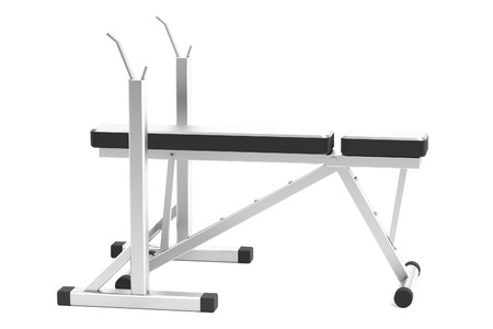 realistic 3d render of benchpress