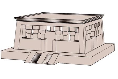 cartoon egyptian: cartoon image of egyptian house