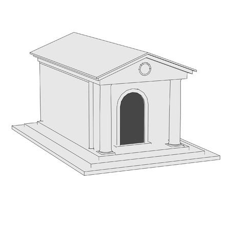 grave stone: cartoon image of stone grave Stock Photo