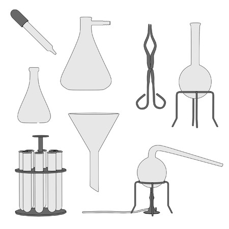 cartoon image of laboratory set photo