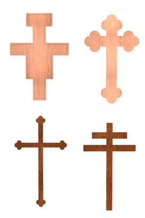 crucifixes: realistic 3d render of crucifixes Stock Photo