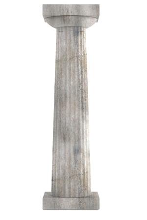 doric: render 3D realista de la columna d�rica Foto de archivo