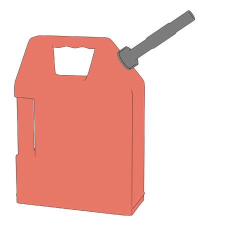 gas can: cartoon image of gas can Stock Photo