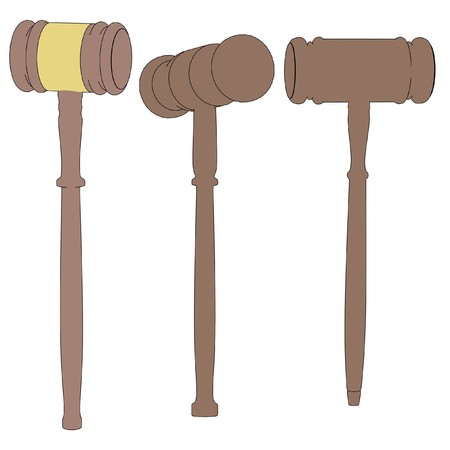 cartoon image of wooden gavels photo