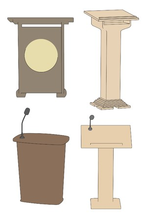 cartoon image of speech podiums photo
