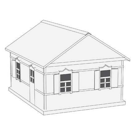 cartoon image of russian house photo