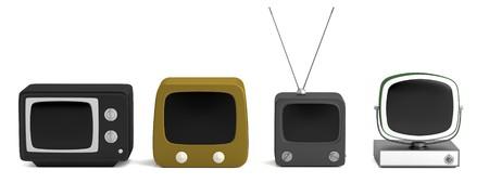 reciever: realistic 3d render of retro TV set