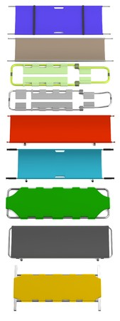 stretcher: realistic 3d render of stretchers
