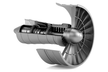 3d réalistes de turbine - avion Banque d'images - 25274883