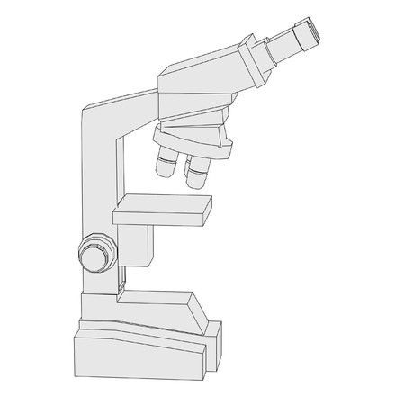 cartoon image of microscope tool photo