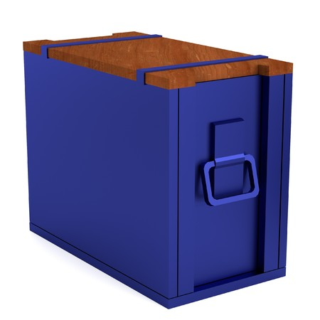 realistic 3d render of box photo