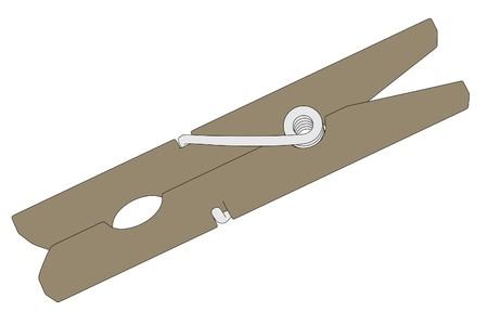 clothes peg: cartoon image of clothes peg