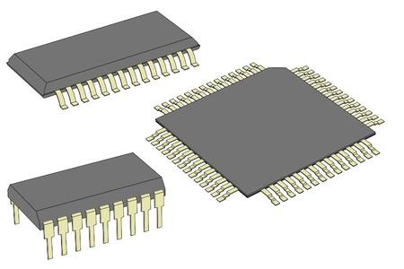 cartoon image of computer chips 版權商用圖片