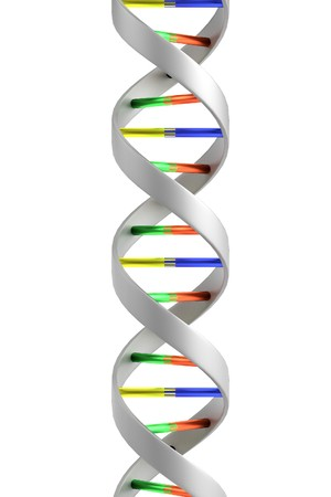 realistic 3d render of DNA Stock Photo