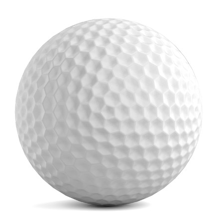 sports equipment: realistic 3d render of golf ball Stock Photo