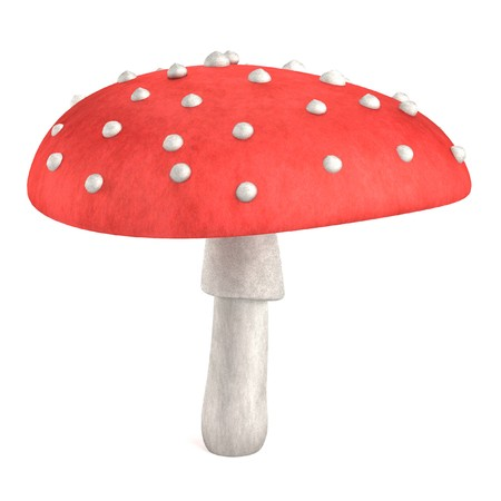 realistic 3d render of poison mushroom photo