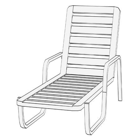 sunbath: cartoon afbeelding van zonnebaden zetel