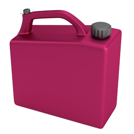 gas can: realistic 3d render of gas can