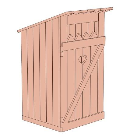 latrina: immagine cartone animato di costruzione latrine