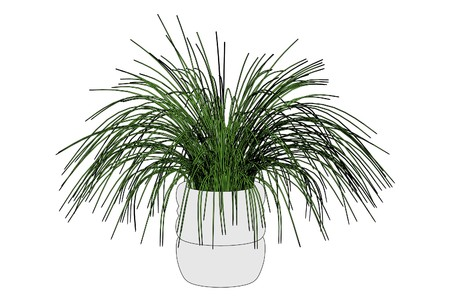 plant pot: cartoon image of plant in pot