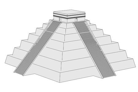 civilisation: cartoon image of mexican pyramide